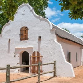 Maison style Cape Dutch Afrique du sud decouverte