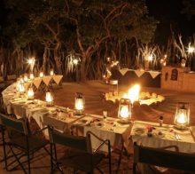Diner autour du Boma du nkorho lodge voyage afrique du sud 2017