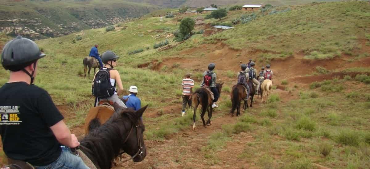 Balade à cheval dans le Drakensberg en Afrique du sud