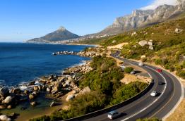 Les 12 apôtres en arrivant sur Cape Town
