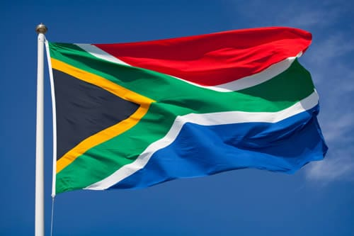 Drapeau sud africain