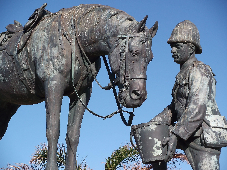 Le mémorial du cheval en Afrique du Sud