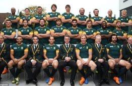 Equipe de rugby des Springboks en Afrique du Sud