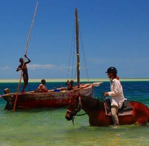 Balade à cheval au Mozambique